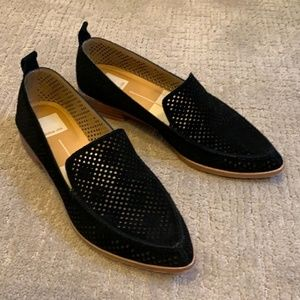 Dolce Vita Kleo Black Suede Flats Loafers Size 7.5